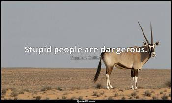 Stupid people are dangerous. Suzanne Collins